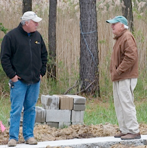 Rick and Fred, Third and Fourth generations, at a recent job site.